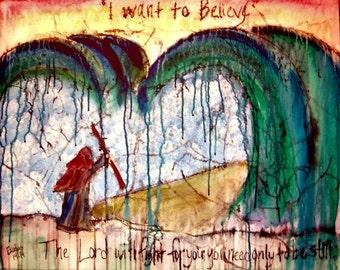 Acrylic Moses Painting, Be Still...