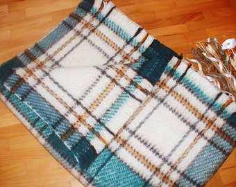 Wool Blanket and Throw, Tartn blanket, 100% Organic wool ,Gift for Her Gift for Him, Home Gift Cottage style Made in EUROPE!