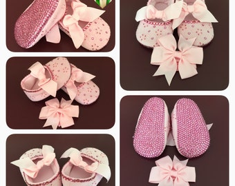 Crystal Baby Shoes, Crystal Shoes, Rhinestone Baby Shoes, Rhinestone Shoes
