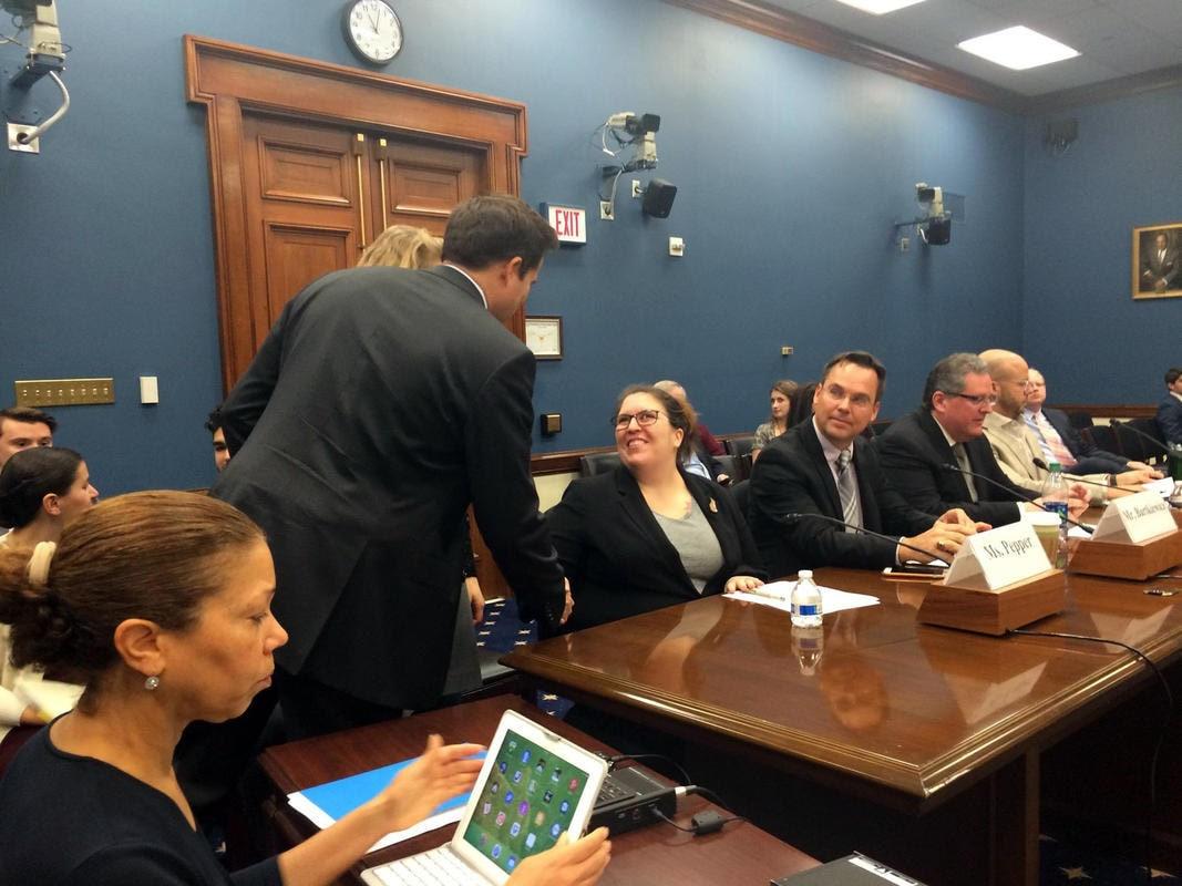 Etsy seller Jen Pepper and Congressman Seth Moulton