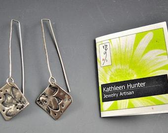Fine Silver Precious Metal Clay Partial Floral Design KHE1529
