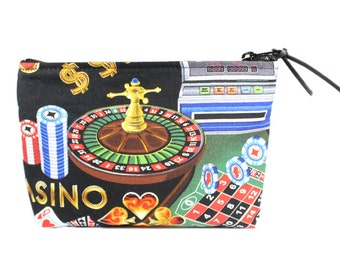 "7"" Casino Pouch Makeup Cosmetic Bag"