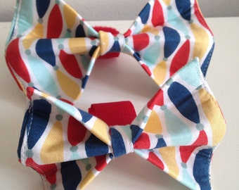 Colorful Surf Boards Dog Bow Tie in Small, Medium or Large
