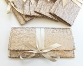 Six Champagne Sequin Clutches // Blush Nude bridesmaid clutch // Sparkle glitter envelope slim wedding bag // Custom colors