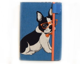 Kindle Cover - French Bulldog - case for new kindle eReader - cute puppy kindle holder - unisex tech accessory - hipster puppy