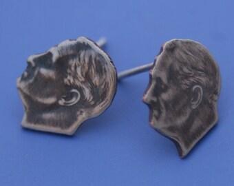 FDR Dime Coin Earrings