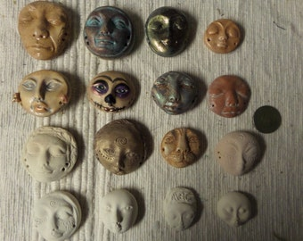 Artist SALE Make your own dolls with this set of 16 polymer cabs. Moonlight set
