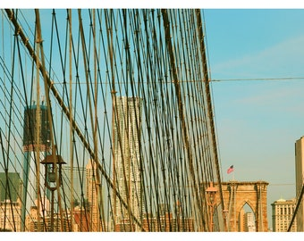 Landscape Photograph - New York Photography - Brooklyn Bridge - Bridges Of NYC Part 7 - Fine Art Photograph  - New York City - Summer - Bock