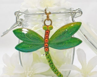 Dragonfly Pendant Necklace Greenfly Dragonfly - Dragonfly Necklace - Dragonfly Jewelry