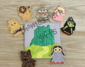 Wizard of Oz Inspired Finger Puppet Set