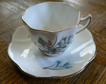 Teacup and Saucer Bone China Made in England