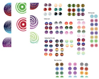 Blythe Printable Eye Chips - Sheet #3