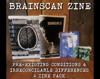 Brainscan Zine Pre-existing Conditions & Irreconcilable Differences 4 zine pack