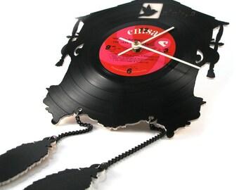 Recycled Vinyl Record Cuckoo Clock