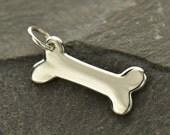 Dog Bone Charm - sterling silver dog bone charm - pet charm - pet jewelry - diy jewelry - add to your necklace or bracelet - charm bracelet