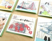 Boxed Notecard Set - Bay Area Map Paintings