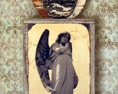 Guardian Angel. Original Mixed Media Art. Angel Wings. Angel Assemblage. Wall Art. Wall Decor. Art for the Home REFLECTION by Mikel Robinson