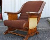Vintage Rustic Wooden Armchair