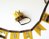 First BIRTHDAY CROWN & BUNTING - Where the Wild Things Are Inspired  Birthday