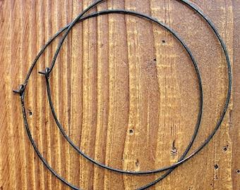 3 inch 18 Gauge Blackened Copper Hoops