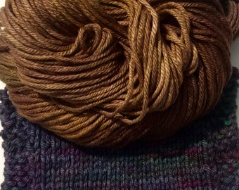 CLEARANCE 50% off OLD PENNY hand-dyed wool silk bulky yarn