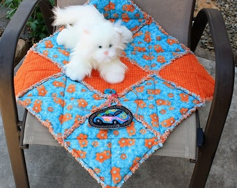 Cat Bed, Cat Quilt, Fabric Cat Bed, Luxury Cat Bed, Crate Mat, Travel Pet Mat, Cat Blanket, Pet Blanket, Small Dog Bed, Cat Bed With Toy