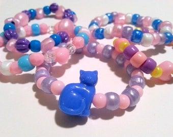 5 Fairy Kei Pretty Pastel Pony Bead Bracelets
