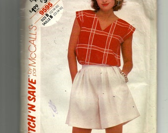 McCall's Misses' Top and Culottes Pattern 9595