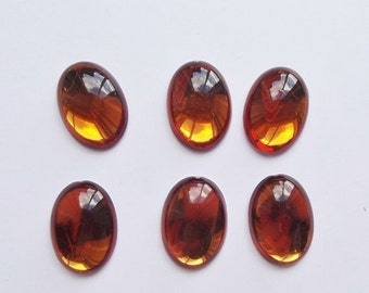 ON SALE Vintage amber lucite cabochons