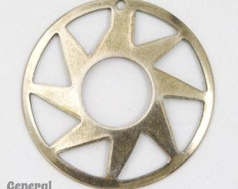 28mm Antique Silver Sun Circle (4 Pcs) #5441
