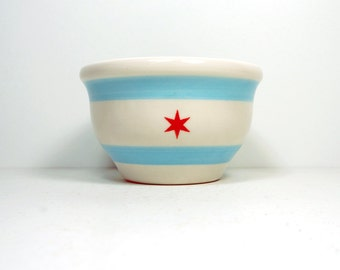 wee bowl chicago flag.  Made to Order