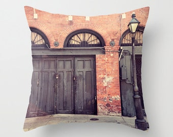 Beautiful New Orleans Photography Throw Pillow, French Quarter, Architecture,  Decorative Pillow Cover, New