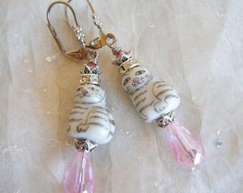 PRINCESS KITTIES Whimsical Earrings