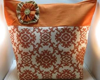 Large Tote Bag, Shoulder Bag, Work Bag, Project Bag, Device Bag, Hand Bag, Knitting Bag, FREE SHIPPING