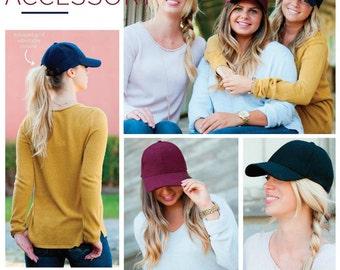 Monogrammed Wool Baseball Cap | Wool Blend Baseball Hat | Fall Winter Baseball Caps | Game Day Hats | Monogrammed Christmas Gift for Women