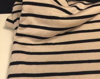 Stretch Jersey Knit Stripe Print 3 Yards
