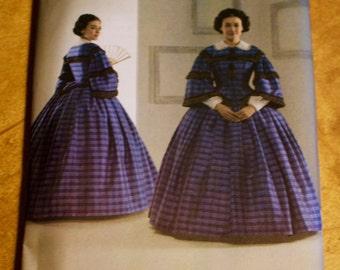 Historical dress pattern, Simplicity 3727, size KK