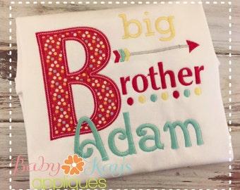 Big Brother Arrow Applique Design 4x4, 5x7, 6x10, 8x8
