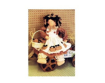 Apple of My Eye Rag Doll Twice As Nice Designs 184 Vintage Sewing Pattern UNCUT