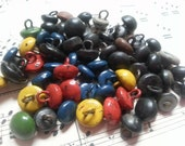 50 Antique Shoe Buttons. Last group with the Colorful ones.