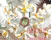 Custom Listing For Teresa Holiday Sale NEW WORKSHOP Merry Christmas Online Encaustic and Etched Copper Bezel Online Workshop Tutorial