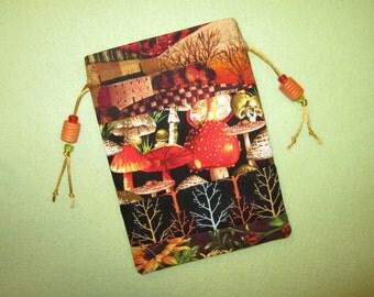 Magickal Tarot Bag Mushroom Season Autumnal Equinox Vision Quest