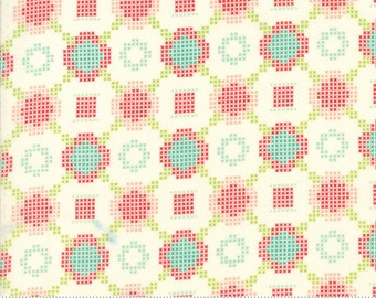Handmade - Cross Stitch in Cream: sku 55144-18 cotton quilting fabric by Bonnie and Camille for Moda Fabrics - 1 yard