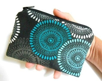 Little Padded Zipper Pouch Coin Purse ECO Friendly NEW Modern Teal
