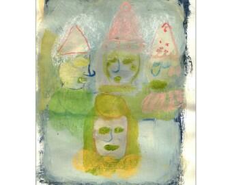 Original painting of Clown Gathering