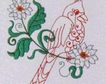 Beautiful Cardinals-10 Design Set - Embroidery Designs