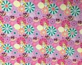 Disney Alice in Wonderland Pink Fabric, 1 Yard
