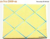 25% OFF SALE Yellow Gingham Memory Board French Memo Board Bulletin Board on Etsy Fabric Board, Ribbon Board, Photo Board, Message Board, Pi