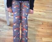 Fox print Supayana girl leggings Ages 5 through 13