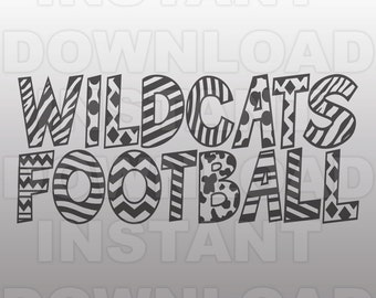 Wildcats SVG File,Football SVG File,Sports SVG File -Commercial & Personal Use- Vector clip art for Cricut,Silhouette Cameo,vinyl cutting